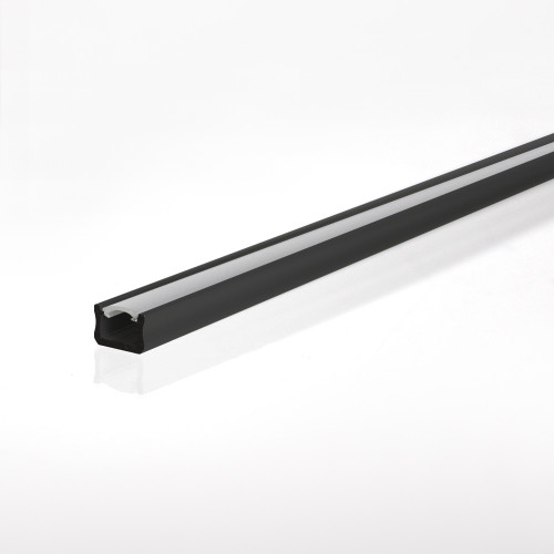 Mini Aluminium Channel, Black, 3 Metre Length