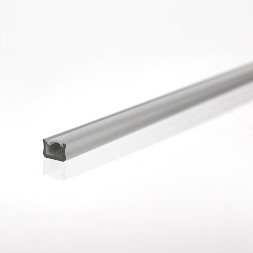 Mini Aluminium Channel, Silver, 2 Metre Length