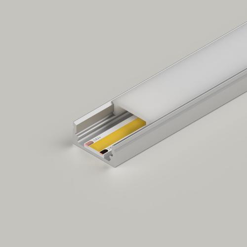 Standard Aluminium Channel 17x8mm, Silver, 2 Metre Length