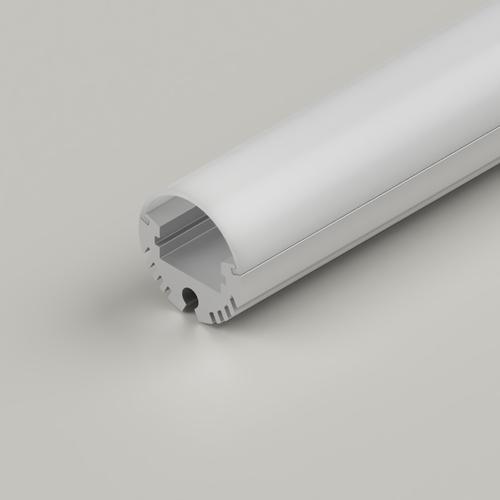 Circular Aluminium Channel 20.6mm, Silver, 2 Metre Length
