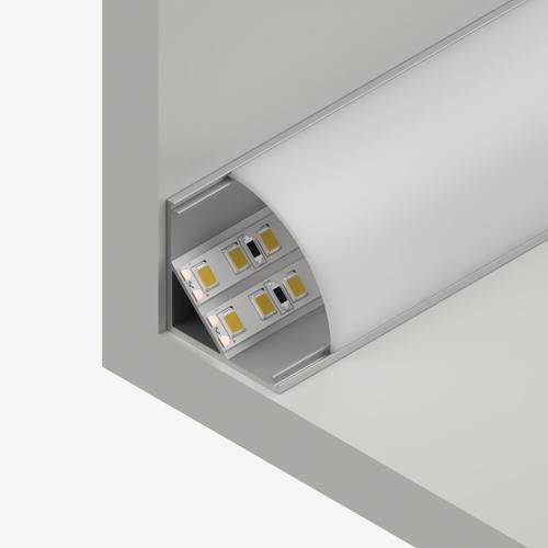 Big Corner Aluminium Channel 30x30mm, Silver, 2 Metre Length