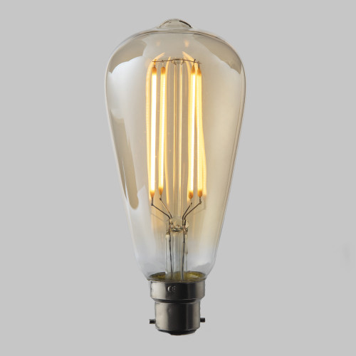 Pear 4w Dimmable LED Filament Bulb (B22) EasyDim