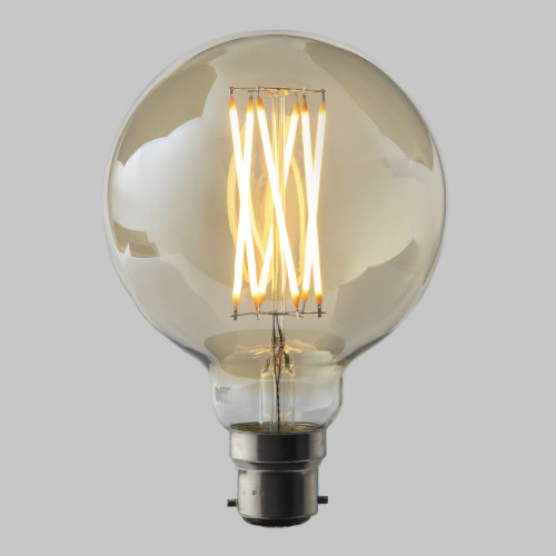 G95 Globe 6w Dimmable LED Filament Bulb 2200K Extra Warm White (B22) EasyDim