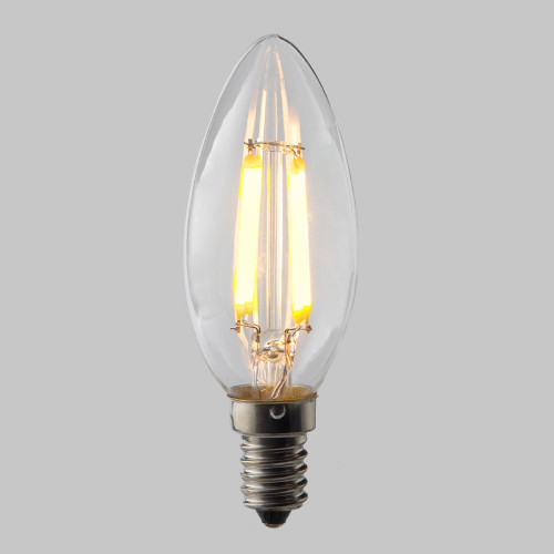 4w C35 Candle LED Filament Bulb 2200K Extra Warm (E14) EasyDim
