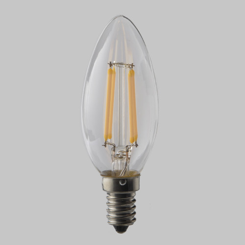 4w C35 Candle LED Filament Bulb 2200K Extra Warm (E14) EasyDim