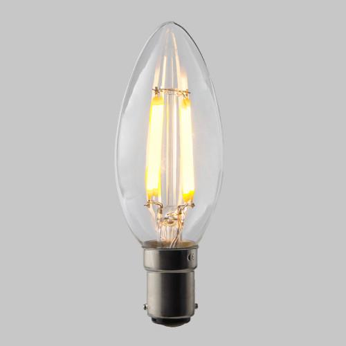 4w C35 Candle LED Filament Bulb 2200K Extra Warm (B15) EasyDim