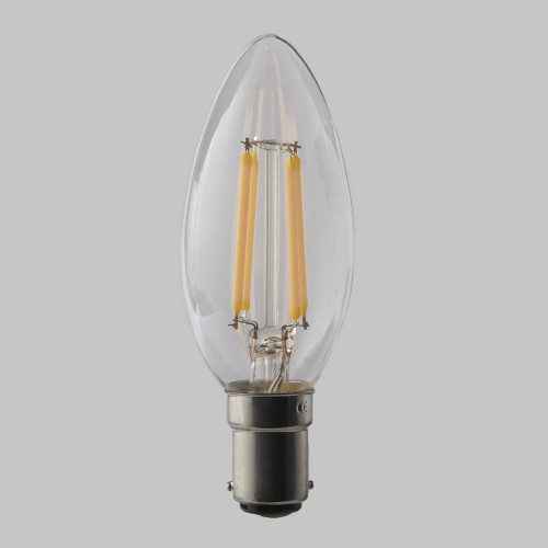 4w C35 Candle LED Filament Bulb 2200K Extra Warm (B15) EasyDim