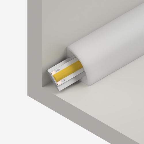 Small Corner Water Resistant IP65 45 Degree Profile, Opal, 3 Metre Length