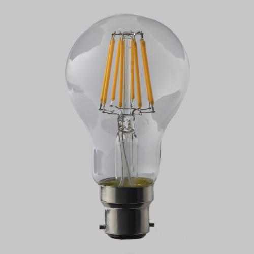 8W GLS LED Filament Bulb B22 EasyDim