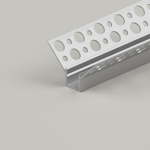 Plaster-In Recessed Inner Corner LED Aluminium Channel, 2 Metre Length