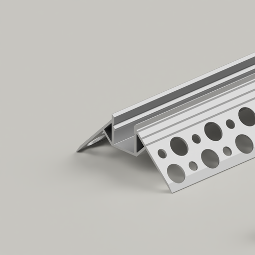 Plaster-In Recessed Outer Corner LED Aluminium Channel, 3 Metre Length
