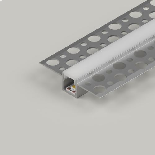 Plaster-In Slim Recessed LED Aluminium Channel, 2 Metre Length