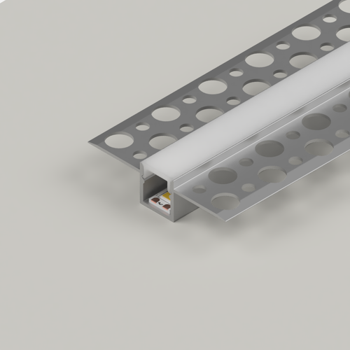 Plaster-In Slim Recessed LED Aluminium Channel, 3 Metre Length