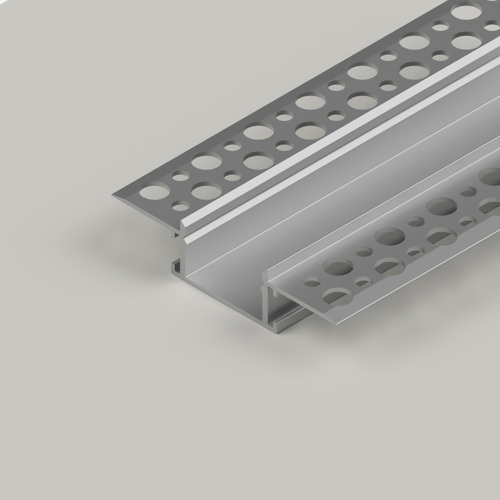 Plaster-In Standard Recessed LED Aluminium Channel, 2 Metre Length