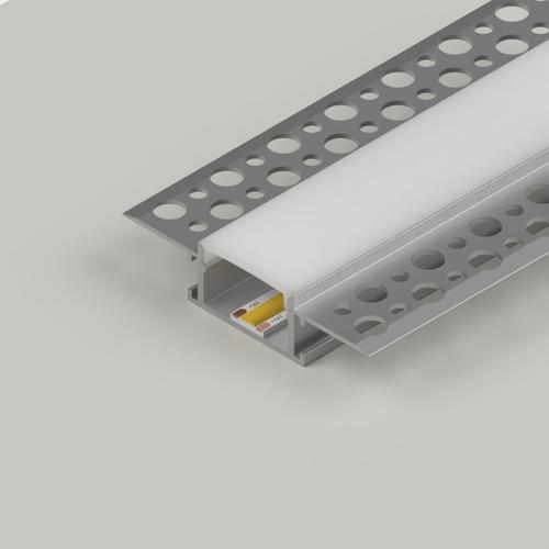 Plaster-In Standard Recessed LED Aluminium Channel, 3 Metre Length