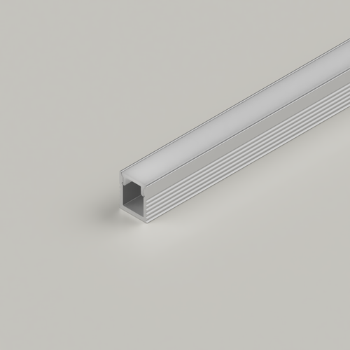 Micro Surface Mounted 7.8x9mm LED Aluminium Channel for 5mm Tape, Silver, 3 Metre Length