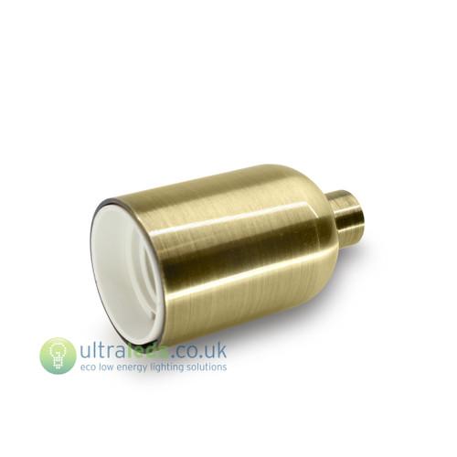 Brushed Metal Gold Lamp Holder ( E27 / Edison Screw )
