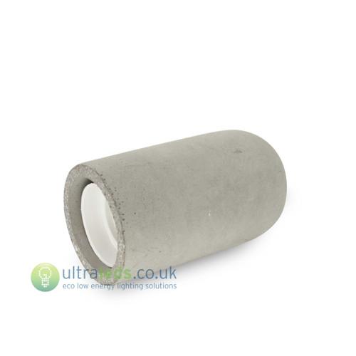 Concrete Grey Lamp Holder ( E27 / Edison Screw )