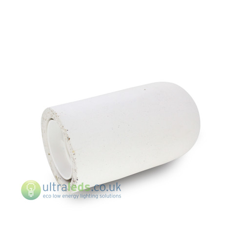 Concrete White Lamp Holder ( E27 / Edison Screw )