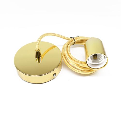Metallic Gold Lamp Fixture Pendant ( E27 / Edison Screw )