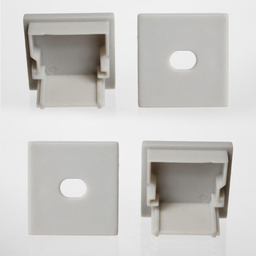 Set of 4 Square End Caps for Wide Angle Slide-in Profile