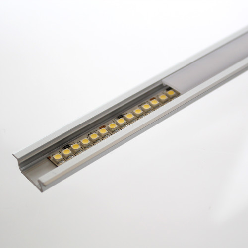 Shallow V2 Channel with Trim 22x6.3mm, White, 2 Metre Length