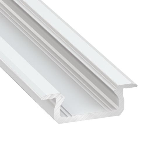 Shallow V2 Channel with Trim 22mm x 6.3mm - 3 Metre Length White