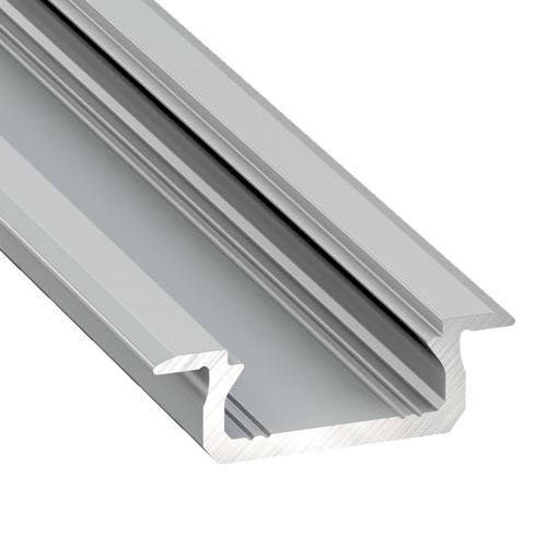 Shallow V2 Channel with Trim 22mm x 6.3mm - 2 Metre Length Silver