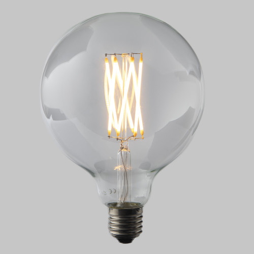 G125 6W Large Globe Dimmable LED Filament Bulb in Edison Screw (E27) EasyDim