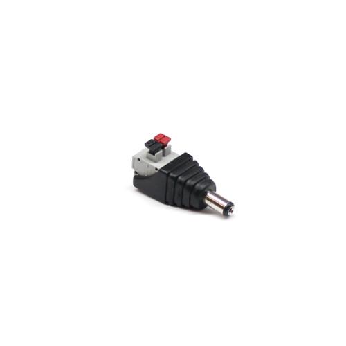Male 2.1mm x 5.5mm PSU Plug - Push On Type