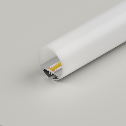 Suspendable Circular Aluminium Channel 30mm, 3 Metre Length