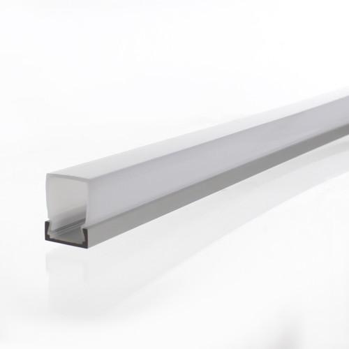 Slim Tall Rectangular Tall LED Aluminium Channel, 2 Metre Length