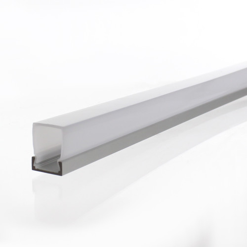 Slim Tall Rectangular LED Aluminium Channel for 11mm Tape, 3 Metre Length