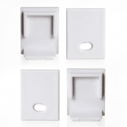 Set of 4 End Caps for Slim Tall Rectangular Tall LED Aluminium Profile