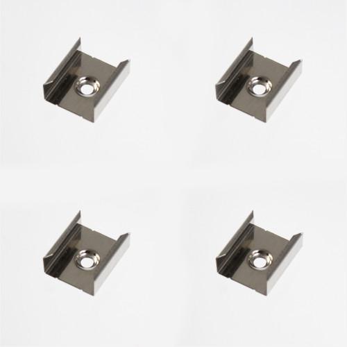 Set of 4 Mounting Brackets for Slim Tall Rectangular Tall LED Aluminium Profile