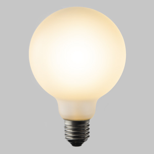 Frosted G95 Globe 4w Dimmable LED Filament Bulb (B22) EasyDim