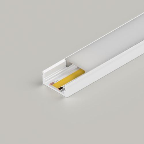 Standard Aluminium Channel 17x8mm, White, 3 Metre Length