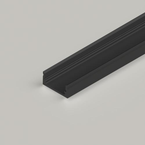 Standard Aluminium Channel 17x8mm in Black - 3 Metre Length