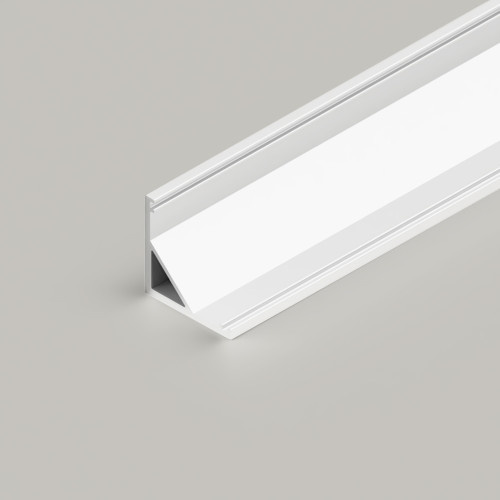 Small Corner Aluminium Channel 1616 in White - 3 Metre Length