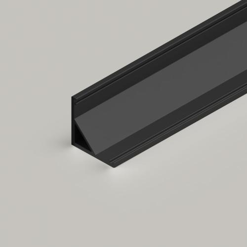 Small Corner Aluminium Channel 1616 in Black - 2 Metre Length