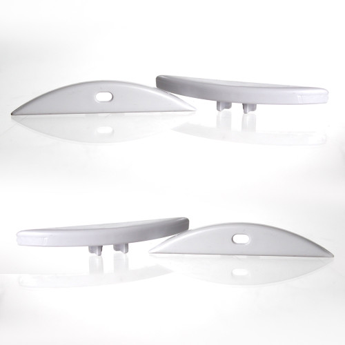 Set of 4 End Caps for Curved Wide Aluminium Profile