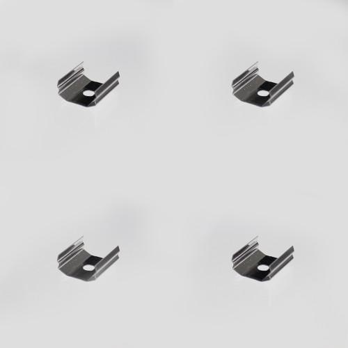 Set of 4 Mounting Brackets for Wide-Angle Large Circle Aluminium Profile