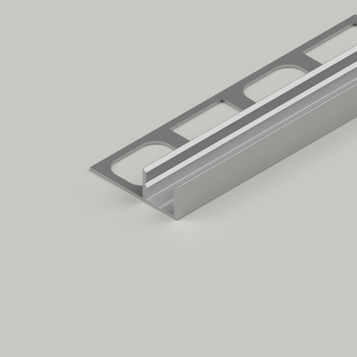 Tile-in Aluminium Profile - 2 Metre Length