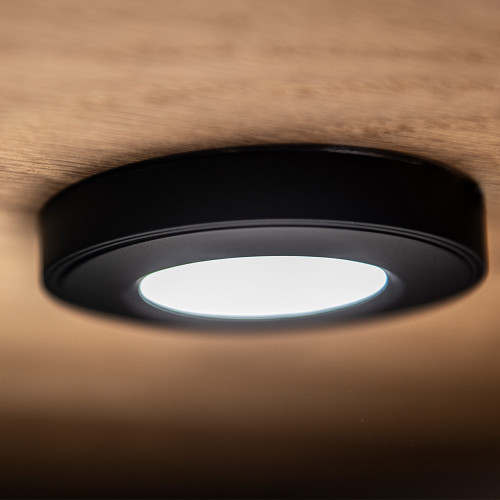 Surface Mounted Puck Furniture Spotlight, Warm White 3000K, Black