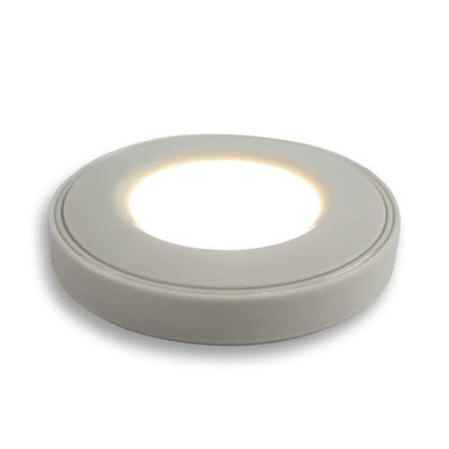 Surface Mounted Puck Furniture Spotlight, Warm White 3000K, White