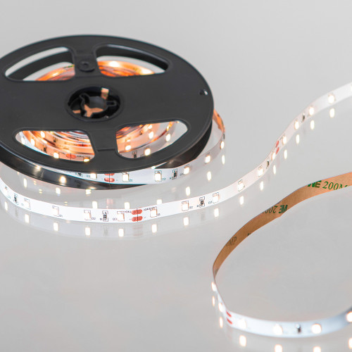 24V Easy to Use Eco Bright LED Tape, Flame White 2000K, 60 LEDs p/m, IP20 (5m Reel)