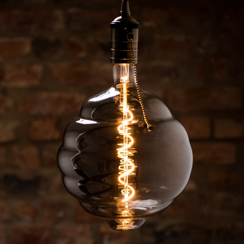 Manchester Beehive LED Spiral Filament Bulb, Smoked Glass, Dimmable, Large