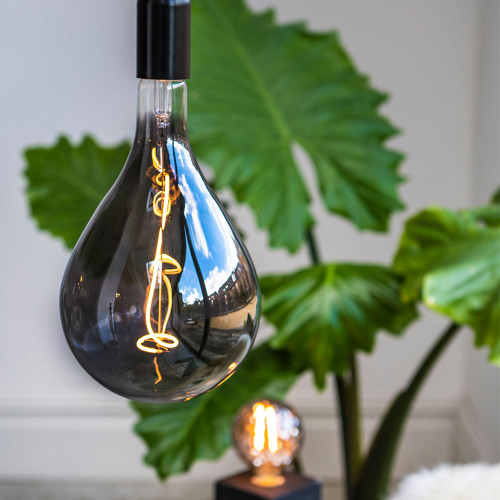 Trafford LED Vine Filament Bulb, Smoked Glass, Dimmable