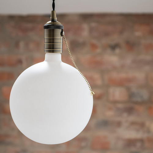 Irlam Large LED Globe Bulb, Eggshell Glass, Dimmable