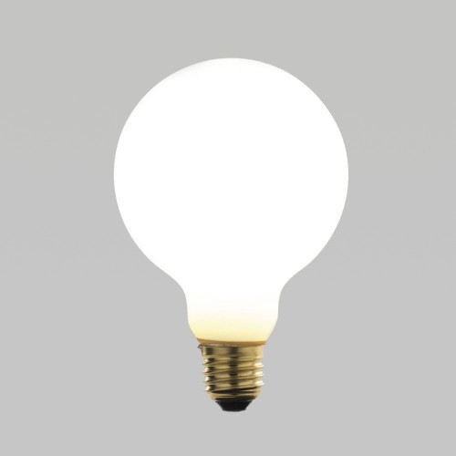 Irlam Small LED Globe Bulb, Eggshell Glass, Dimmable